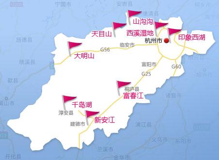 热门景点地图