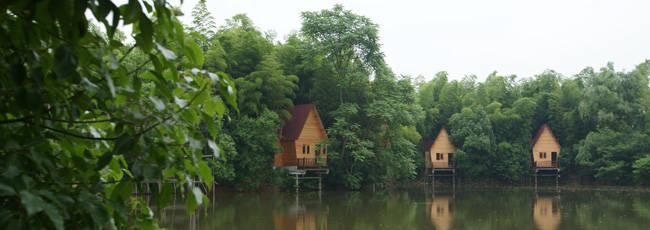安吉蓝海汤泉农家乐 饭店 点评,房子是新 装修 的高清图片