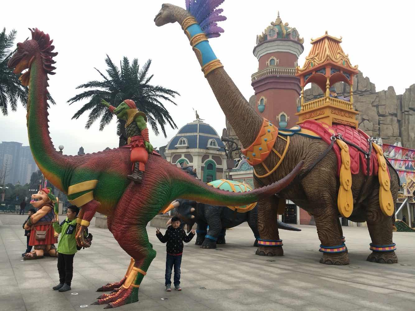 常州恐龙园 恐龙园门票 主题套餐 家庭票常州恐龙园 从南京大概八 驴妈