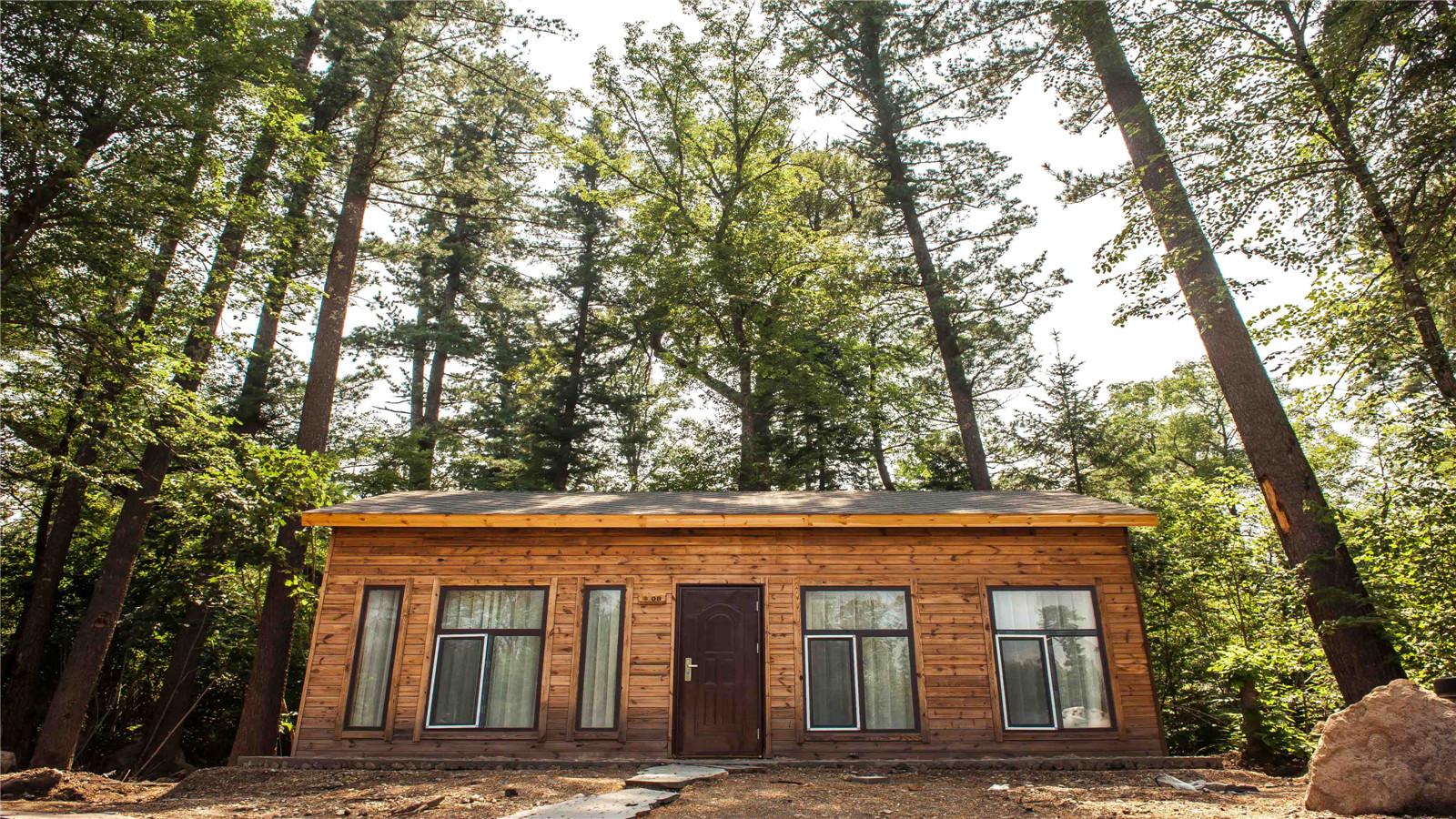 还可观赏到长白山地区较大的房车营地,纯芬兰进口的森林木屋别墅群.图片