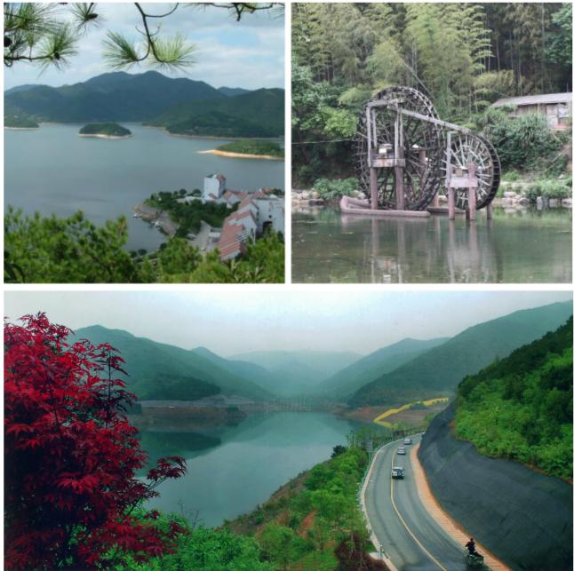 湖东侧红瓦白墙的建筑群西班牙别墅式的九龙山庄,把九龙湖点缀得图万别墅自20农村建图片