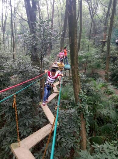 重庆飞越丛林户外冒险乐园   蓝线【高空体验线】图片